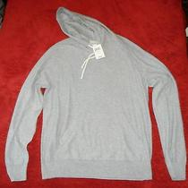 79.50 Lucky Brand Gray Hooded Men's Sweater  M Photo