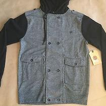79 Element Men's Hoodie Jacket Grey/black Size L Photo