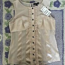 79 Nwt Bebe Size Large L Mix Fabric Corset Top With Lace Trim Detail Tank Blush Photo
