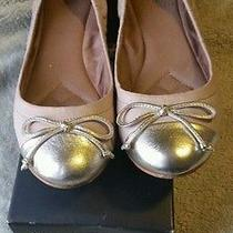 79 Vince Camuto Gold - Nappa Ballet Flats Size 7 Barely Worn. Rare  Rose Used Photo