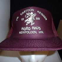 7th Cartoon Kegger 1988 Hobo Haus Mn Baseball Cap Trucker Hat Unique Retro Rare Photo