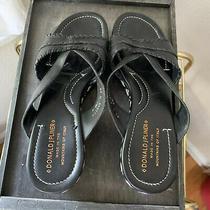 8.5 Italian Leather Platform Heel Black White Detail System Donald J Pliner Photo