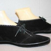 8 N Nos Keds Black Vtg 1970s Chukka Suede Velour Ankle  Boot 70s Bootie Shoe Photo