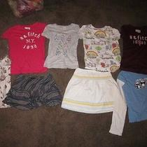8 Pc Lot Abercrombie a&f Top T Tee Shirts Kc Parker Justice  Skirt L 10   Photo