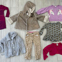 8 Pc Lot Toddler Girls Baby Gap h&m Fall Winter Clothes Sherpa Jacket 18-24m 2t Photo