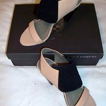 8 Vince Camuto Carine Slingback Sandals Nib New 8m Tan Leather Photo