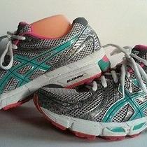 80 Asics Gel-Exalt T379n Women 10 Silvr/turquo/pink Running Sneaker Shoes Euc Photo