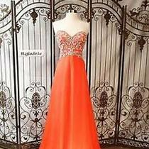 80% Off Prom Long Formal Dress Blush X210 Color Sunset Size 8 Photo