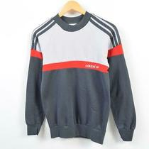 80's Adidas Logo Sweatshirt Trainer Ladies M /wbd5026 Photo