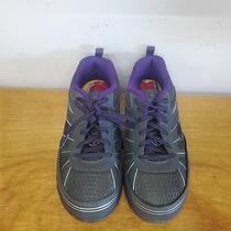 80 Skechers Work Womens Synergy Algonac Sneakers Charcoal/purple 77207 6.5 B Us Photo