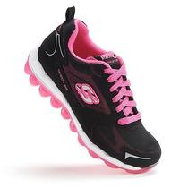80221l Skechers Skech Air Bizzy Bounce Girls' Running Shoes Size 11 Photo