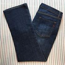 806 Gap 1969 Jeans Sexy Boot Stretch High Dark Regular Womens Denim Size 16 Blue Photo