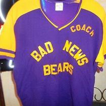 80s M/l Vtg Mens Rawlings Polyester Bad News Bears Coach Baseball Jersey Shirt  Photo