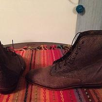 80s Vintage Frye Granny Ankle Boots  Marble Brown Size 6.5 Womens Photo