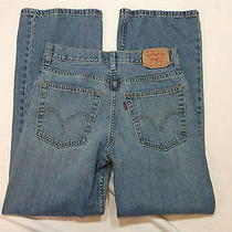 812  Levi's 527  Boys Blue Jeans Boot Cut  Size 16 Reg 28 29.5 X 28  Photo