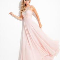 85% Off Prom Long Dress Rachel Allan Princess 2858 Color Blush Size 12 Photo