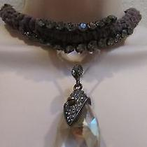 870 Lanvin Pendant  Necklace With  Crystals. France. Photo