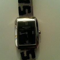 875 Designer Sonia Rykiel Nwt Gold Black Fabric Funky Watch Authentic Gift New Photo