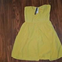 88 Aqua Womens Sun Yellow Short Cocktail Dress Size Small Nwt Photo