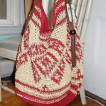 88 Lucky Brand Sierra Hobo Handbag Red Photo