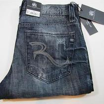 88 Nwt Mens Rock & Republic Distressed Straight Leg Bolt Jeans Pants 36 X 32 Photo