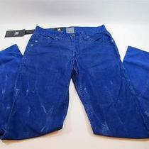 88 Nwt Mens Rock & Republic Vinyl Blue Courderoy Straight Leg Neil Pants 32x32 Photo