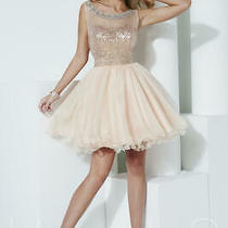 89 Homecoming Short Dress Hannah S 27955 Color Blush Size 8 Photo