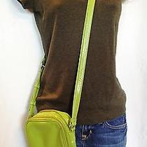 89 Kate Landrycitrus Green Patentcross Body Bagorganizercamera Bag  Photo