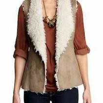 89 New Hive & Honey Anthropologie Brown Faux Shearling Vest Cozy Layer Xs Photo