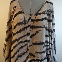 89 Sanctuary Zebra Print Kimono Sleeve Top Size Xs Photo