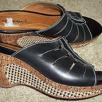 8m Natural Soul by Naturalizer Wedge Heel Open Toe Sandals Slip on Slides Shoes Photo