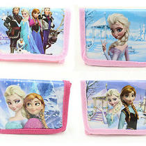 8pcs Disney Frozen Girl's Kids Boy Purses Wallets Anna Elsa Party Birthday Gift Photo