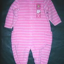 9 Month Girls Pink One-Piece Super Cute Outfit by Carter's-Teddy Bear & Teapot Photo