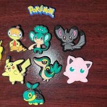 9 Piece Lot Pokemon Croc Charms Shoes Bracelet Jibbitz Photo