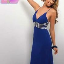 90 Long Prom Dress Blush Prom 9552 Color Royal Blue Size 10 Photo