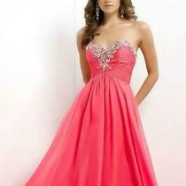 90 Long Prom Dress Blush Prom X236 Color Coral Size 2 Photo
