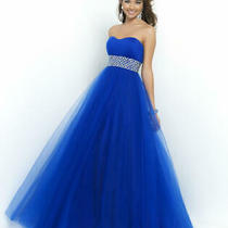 90 Long Prom Dress Pink by Blush Prom 5407 Color Cobalt Blue Size 2 Photo