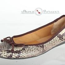 90 Womens Franco Sarto Stylish Python Print Flats Shoes Sz. 8 M New Photo