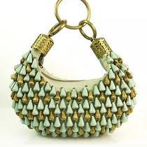 900.00 Rare Collectors Chloe Bracelet Turqoise Brass Beaded Handmade Hobo Bag  Photo