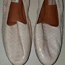 900 Lanvin Pink Python Leather Flats Shoes 41 Eur 10 Us Photo