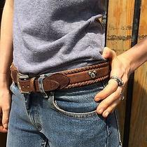90s Mickey Mouse Leather Belt Studded Disney & Co for Brighton Sz 32  Photo