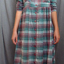 90s Plaid Flannel Oversize Midi Long Dress Grunge  Need Supply Apc  Photo