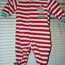 910 My 1st Christmas Red and White Striped Long Sleeve Sleeper My 1st Christmas Photo