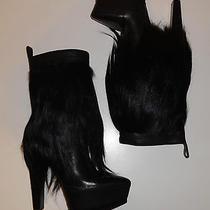 925 Alexander Wang Black Goat Hair Fringed Polina Boots Eur 38 Sz 8 New in Box Photo