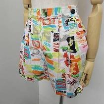 932 Auth Chanel C97 Cc Logo Button Side Zipper Multi-Color Short Pants Size 38 Photo