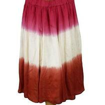 94609 New Maeve Anthropologie Tie & Dye Printed Skirt Large L Photo