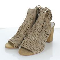 95-74 New 155 Women's Sz 10 M Jeffrey Campbell Ottawa Suede Cutout Heel Sandals Photo