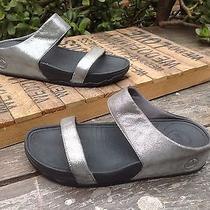 95 Fit Flop Lulu Shimmer Slip on Platform Slide Flats Sandals Size 8 Photo