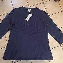 95 Lacoste Sport Woman's Top Tunic Blue Size 46 M Photo