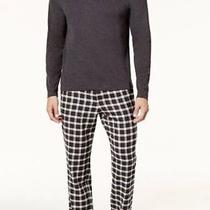 95 Ugg Mens Gray Steiner Fleece Pajama Set T-Shirt Pants Crew-Neck Sleepwear M Photo